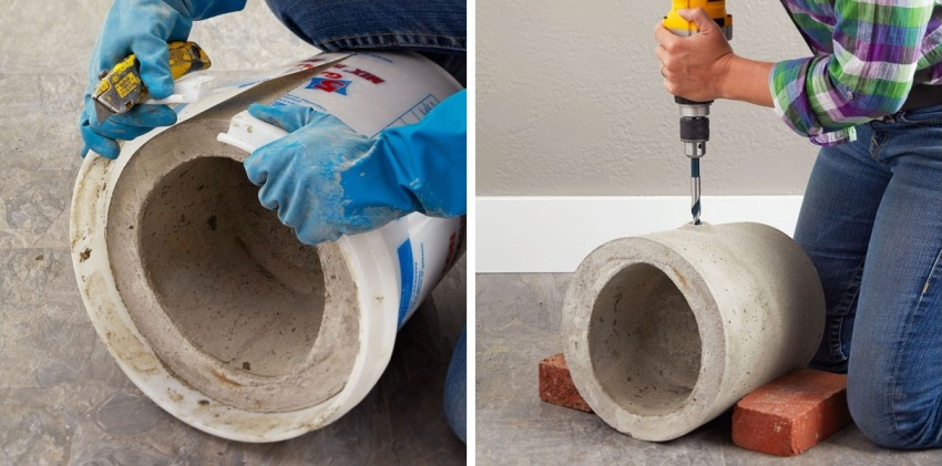 Изготовление вазонов из бетона своими руками 5