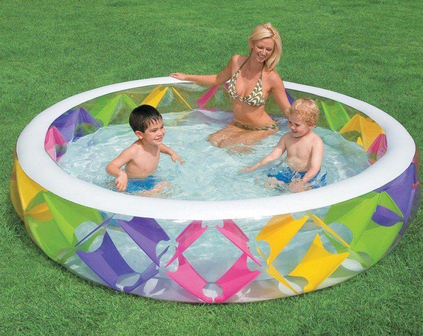 Детский бассейн на даче фото