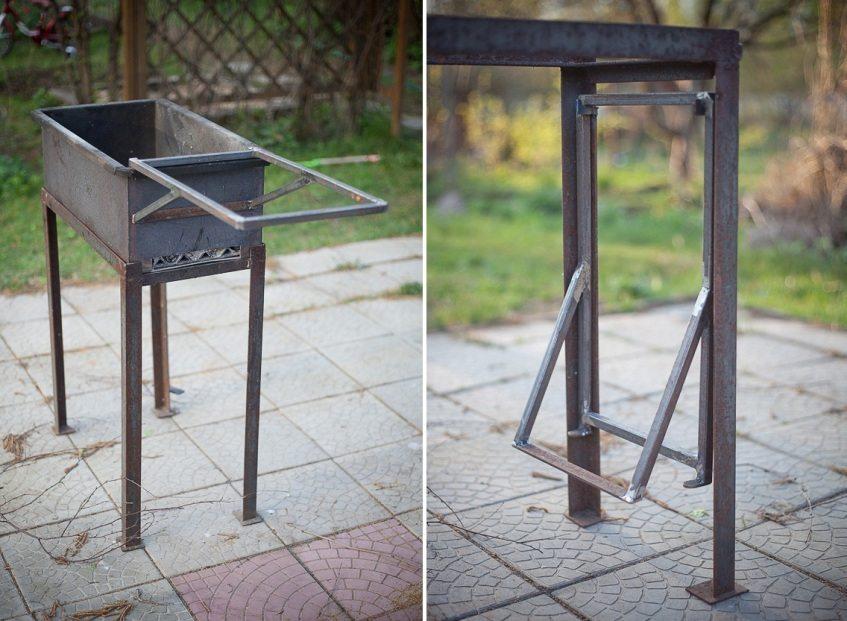 Как металлический сделать мангал своими руками 99