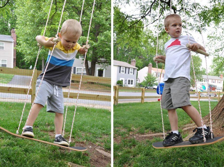 Как сделать качели для детей своими руками фото 37