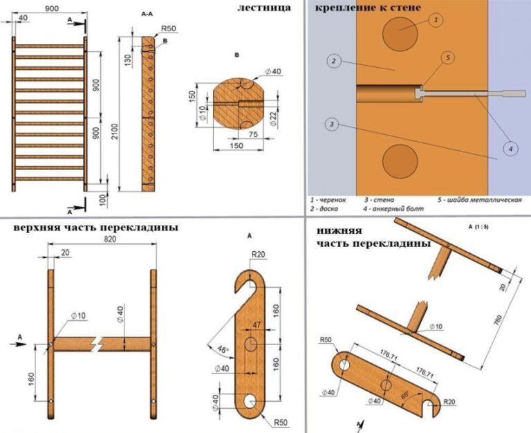 Конструкция шведской стенки своими руками 30
