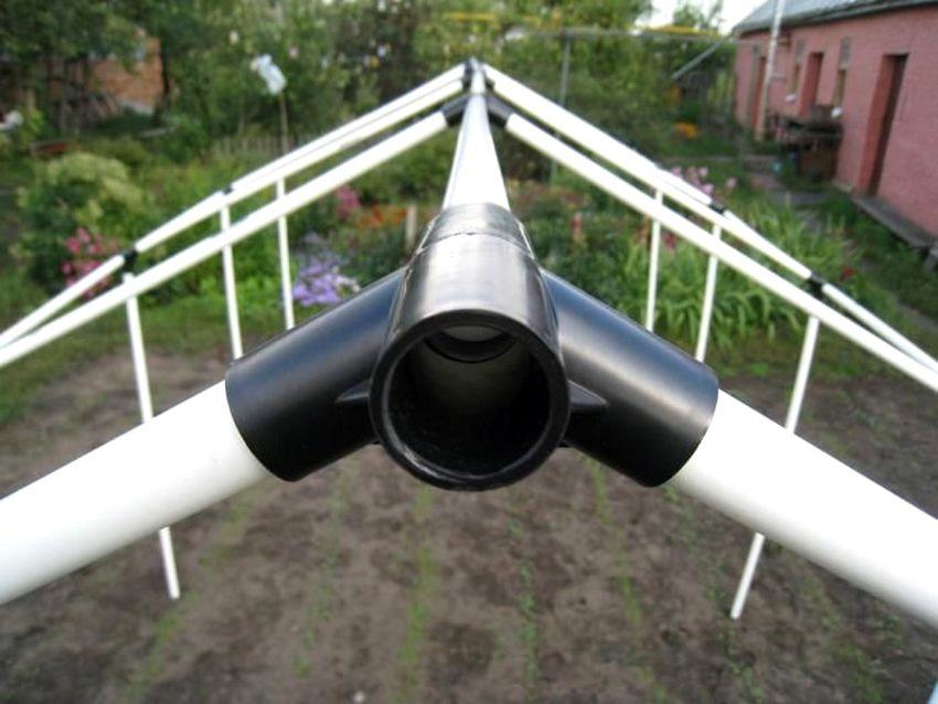 Парник фото из пластиковых труб фото