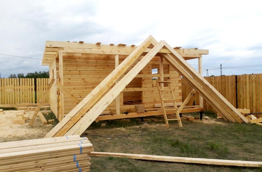 Как построить баню с мансардой своими руками из бруса