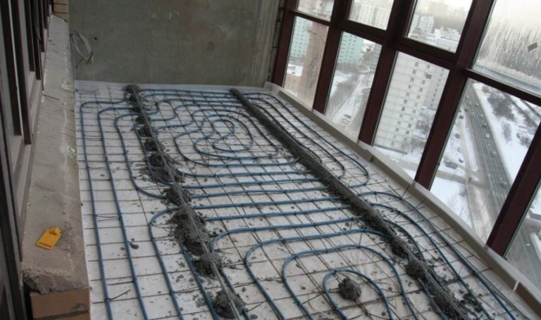 Как сделать теплый пол электрический на лоджии