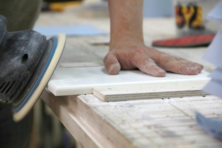Как сделать столешницу из искусственный камня своими руками 31