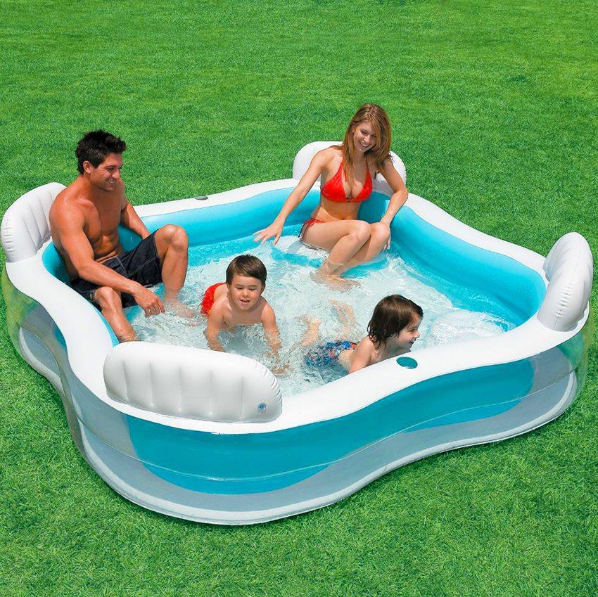 Надувной бассейн для всей семьи картинки