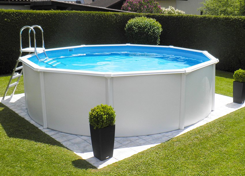 бассейн установка