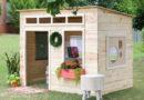 Детский домик для дачи: фото, видео, детский игровой домик своими руками
