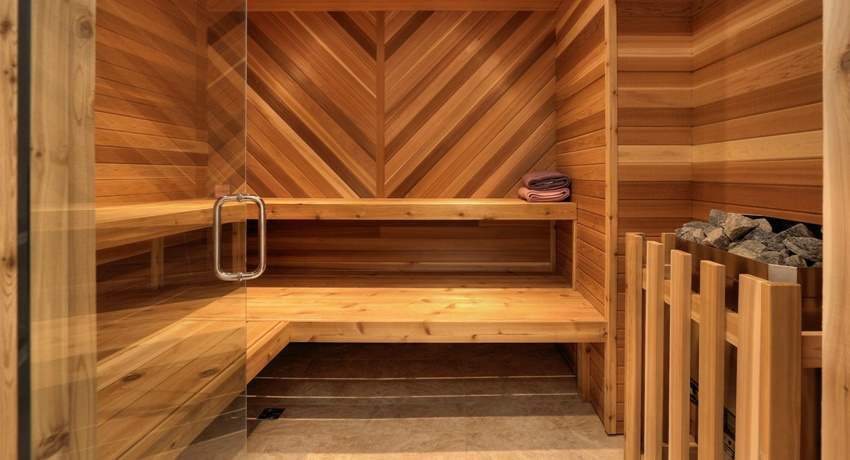 Как сделать полок в бане своими руками угловой складной